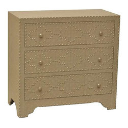 Springfield 3 Drawer Nailhead Chest - Springfield 3 Drawer Nailhead Chest 32 x 15 x 30