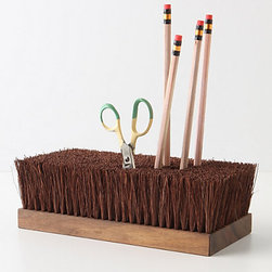 Besom Holder - This is a simple way to creatively display your desk tools.