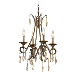 Murray Feiss - Murray Feiss Reina Traditional Mini Chandelier X-SIG4/7362F - Bold details give a masculine appeal to this Murray Feiss mini chandelier. From the Reina Collection, the Gilded Imperial Silver finish and sturdy steel construction add to the appeal. Candelabra lights and hanging crystal-like accents compliment the classic influencing, giving it an eye-catching look and feel.
