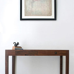BDDW Mason Writing Desk - This desk has a lovely and unobtrusive silhouette, and the craftsmanship that goes into it harkens to the Arts and Crafts and Mission design movements. This gives it a classic modern look.