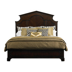Stanley Furniture - Charleston Regency Cathedral Bed - Garland carved posts are complemented by sea scroll corner elements on the Parthenon-inspired Cathedral Bed. Bracket feet and raised astragal mouldings decorate the bed's footboard and side rails. Bed assembly will be required with either curbside or inside delivery. Made to order in America.