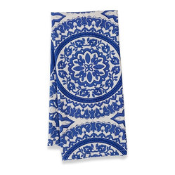 "Medallion Tea Tea Towels, Blue, 20""x30"""