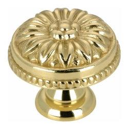 Richelieu Hardware - Richelieu Louis Xv  Brass Knob 30mm Polished Brass - Richelieu Louis Xv  Brass Knob 30mm Polished Brass