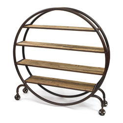 Go Home - Go Home Studio Bookshelf - Give an appealing look to your room by adding this Studio Bookshelf. It is provided with ample space for maximum storage. This bookshelf is round shaped equipped with casters for easy mobility.