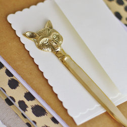 Brass Fox Letter Opener - This vintage Brass Fox letter opener would look so chic on a mail tray near the front door — or, even better, on a dedicated writing desk alongside a bevy of luxe paper goods and bespoke stationery.