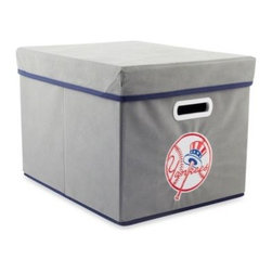 Owner's Box, Llc - MLB New York Yankees Fabric Storage Cube with Cover - Keep your home or office organized with these stackable cubes. These cubes come with covers and are designed to fit both letter and legal sized file folders. Perfect for any room, these cubes feature the logo of your favorite MLB team.