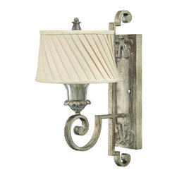 Fredrick Ramond - Fredrick Ramond FR42720SLF Kingsley Wall Sconce - French Country Wall Sconce in Silver Leaf from the Kingsley Collection by Fredrick Ramond.