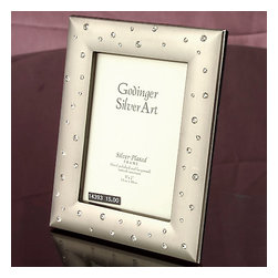 Godinger Silver - Pewter Picture Frame 5x7 - This photo frame is the perfect wedding or anniversary gift to help a couple retain the memories of their special event long after the moment has passed. Functional and sturdy this piece as your table centerpiece will add beauty to your home decor. Simply, place your favorite 5x7 photo in it and let your memories flow back.