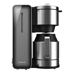 "Panasonic - Panasonic 8 Cup Coffee Pot Smoke - Integrated power cord storage.  Stainless Steel ""Keep Warm"" carafe.  8 cup capacity.  Aroma selector."