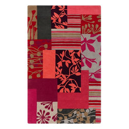 Surya - Surya Contemporary Harlequin Magenta 5'x8' Rectangle Area Rug - Founded in  as an importer of wallpapers and hessian rugs Harlequin has grown to become the largest lifestyle brand in the UK. Now in an exclusive partnership with Surya the designfocused company brings its bold colorful style to the U.S. consumer through a beautiful range of hand tufted and woven rugs.