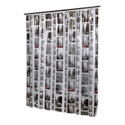 """""""New York"""" Vinyl Shower Curtain - """"New York"""" 5 gauge vinyl print shower curtain, size 72""""x72"""". Our """"New York"""" Cityscape Vinyl Shower Curtain brings the big apple straight to your bathroom. Made of a durable, heavy (5 gauge) vinyl, this standard-sized (72'' x 72'') curtain is water repellant and wipes clean easily. Wipe clean with damp sponge with warm soapy cleaning solution"""