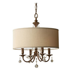 Murray Feiss - Murray Feiss Clarissa Chandelier - Shown in picture: Clarissa Large Pendants in Firenze Gold finish with Burnt Copper�On Stryene Hardback