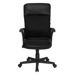 Flash Furniture - Flash Furniture Office Chairs Leather Executive Swivels X-GG-10A241A-PC - This value priced mesh office task chair will accommodate your essential needs for your home or office. Chair features a breathable mesh back with a comfortably padded leather seat. Chair is height adjustable to conform to several desk sizes. [CP-A142A01-GG]