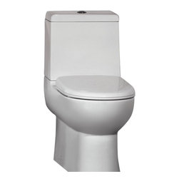 """Ariel - Ariel Platinum """"Camilla"""" Contemporary European Toilet with Dual Flush - Ariel cutting-edge designed one-piece toilets with powerful flushing system. It?s a beautiful, modern toilet for your contemporary bathroom remodel. Dimensions: 26 x 15 x 26, UPC Approved, 12"""" Rough in For easy standard installation, High Quality Glaze that resist stains and Microbes, Seat is Included with the Toilet, Fully Glazed Trapway for smoother flushes, Elongated Bowl, Elongated Bowl"""