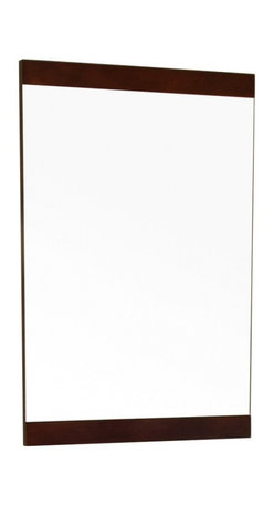 """Bellaterra Home - Rectangular Solid Wood Dark Walnut Frame Mirror - Simple wood frame mirror, finished with walnut finish, sealed with 7 layers of protective sealant to ensure water proof surface. The mirror a high quality 0.6"""" thick mirror prevent rusting against bathroom, and it comes with all mounting hardware. Frame Dimensions: 19.7""""W X 31.5""""H X 1""""D; Finish: Walnut; Material: Wood; Beveled: No; Shape: Rectangular; Weight: 12; Included: Brackets, Ready to Hang"""