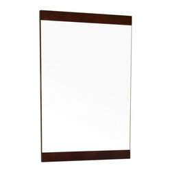 "Bellaterra Home - Rectangular Solid Wood Dark Walnut Frame Mirror - Simple wood frame mirror, finished with walnut finish, sealed with 7 layers of protective sealant to ensure water proof surface. The mirror a high quality 0.6"" thick mirror prevent rusting against bathroom, and it comes with all mounting hardware. Frame Dimensions: 19.7""W X 31.5""H X 1""D; Finish: Walnut; Material: Wood; Beveled: No; Shape: Rectangular; Weight: 12; Included: Brackets, Ready to Hang"
