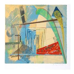 William Schwedler, Bridge the Gap, Serigraph - Artist:  William Schwedler, American (1942 - 1982)