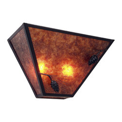 Steel Partners Inc - Tapered Sconce - PONDEROSA PINE - Every piece we create is unique — handcrafted at our factory in Chehalis, Washington, USA. Due to this, lead times are 2 to 4 weeks.