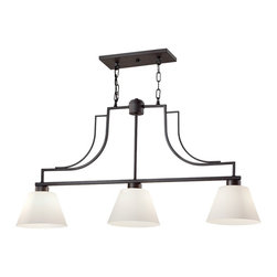 Feiss - Feiss F2762/3CI Weston 3 Light Colonial Iron Chandelier - Finish: Colonial Iron