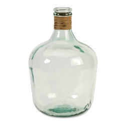 iMax - Boccioni Small Recycled Glass Jug - The small Boccioni glass jug is made from recycled glass and is a beautiful Earth-friendly accent.