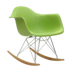 LexMod - Molded Plastic Armchair Rocker in Green - Not Grandma's rocking chair, this mid-century retro modern rocker, has the avant garde style of today that adds pizzazz to your room. Still a comfortable seat for lulling children to sleep or moving in time to music, this rocking chair is the symbol of the modern home.