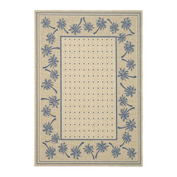 Safavieh - Safavieh Courtyard Cy5148F Ivory / Blue Area Rug - Traditional patterns and classic beauty are found in the area rugs of the Courtyard collection. Made in Belgium of enhanced polypropylene, these rugs are extremely durable and perfect for indoor or outdoor use. The area rugs of the Safavieh Courtyard collection offer highly detailed and sophisticated designs created through an unusual sisal weave. Select the colors, design, and style that will compliment any room in your home in round, rectangular or runner rugs.