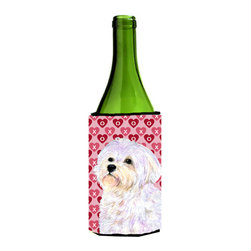 Caroline's Treasures - Maltese Hearts Love and Valentine's Day Portrait Wine Bottle Koozie Hugger - Maltese Hearts Love and Valentine's Day Portrait Wine Bottle Koozie Hugger Fits 750 ml. wine or other beverage bottles. Fits 24 oz. cans or pint bottles. Great collapsible koozie for large cans of beer, Energy Drinks or large Iced Tea beverages. Great to keep track of your beverage and add a bit of flair to a gathering. Wash the hugger in your washing machine. Design will not come off.