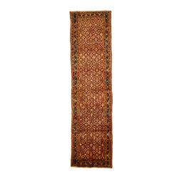 eSaleRugs - 3' 7 x 13' 10 Hossainabad Persian Runner Rug - SKU: 110891545 - Hand Knotted Hossainabad rug. Made of 100% Wool. 20-25 Years.