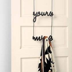 Yours and Mine Over-the-Door Hook - Stay organized and keep your towels, sweaters, sweatshirts etc. separate on this over-the-door hook