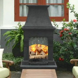 Franciscan Outdoor Wood Burning Fireplace - Wow your guests as you keep them warm in style with the Franciscan Outdoor Wood Burning Fireplace. -Mantels Direct