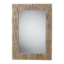 "Arteriors - Arteriors Home - Gavin Wood Mosaic Mirror - 2658 - Arteriors Home - Gavin Wood Mosaic Mirror - 2658 Features: Gavin Collection MirrorMango Wood, Iron, MDF in MaterialNatural / plain mirrorD ring hanger with wireCan be hung vertically or horizontally Some Assembly Required. Dimensions: 30"" W x 2"" D x 42"" H"