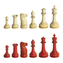 "Inviting Home - Staunton Chess Set - Staunton chess set 11-3/8""x 11"" x 1-3/4"" Marvels of grace balance beauty and simplicity... This is reproduction of THE classic chess set that established a worldwide standard used since the mid-19th C. Our reproduction is a detailed replica of an original ivory chess set manufactured by the British 'Jacques' company circa 1850 and purchased at a 1990s London auction. English chess master Howard Staunton promoted this set at the first international chess tournament in 1851. It's clearly distinguishable pieces soon became the competition standard known as the 'Staunton' set Study the King's crown and Queen's coronet details of bishops and rooks knights modeled after marble stallion heads from the Parthenon on down to the diminutive pawn. Admire the simple yet elegant chess contours. Chess figures are well-weighted. Shaped to hold to touch to admire... To be gazed at in unwavering and total concentration."