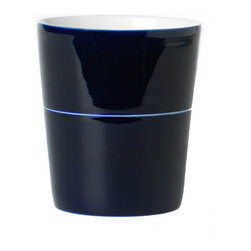 Design House Stockholm - Design House Stockholm - Cobalt Mug 1 Stripe - Set of 2 - Cobalt-based blue pigments have been used since ancient times for jewelry and paints, and to impart a distinctive blue tint to glass and ceramics. During the 19th century and early 20th century, china from Ostindiska kompaniet, Kunglig Dansk, Gustavsberg and Rörstrand gained global reputation for its quality and design. Catharina Kippel's Cobalt collection is made in the same tradition, with the cobalt blue designs hand-painted in three layers on slightly transparent bone china. Like all true high-quality products it will only become more beautiful with time when used. We think of it as a tomorrow's collector's item.