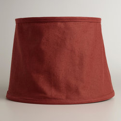 World Market - Rooibos Collapsible Canvas Table Lamp Shade - Crafted of cotton canvas, our Rooibos Collapsible Canvas Accent Lamp Shade sets a casual atmosphere. Its loosely draped construction adds a relaxed style to your room setting.