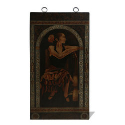Koenig Collection - Lady With Guitar Mural Wall Art Panel - Lady with Guitar Mural Wall Art Panel,