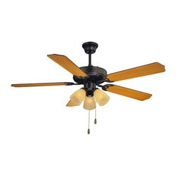 Savoy House - Savoy House 52-EUP-5RV First Value 5 Blade 3 Light Hanging Ceiling Fan - Features: