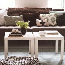 Contemporary Living Room Home in Copenhagen, Denmark