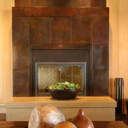 Residential Fireplace - Here is a beautiful custom concrete fireplace built for a homeowner in Monterey.