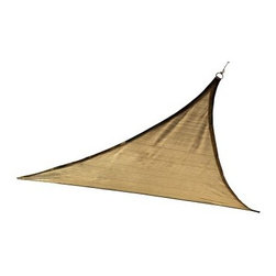 ShelterLogic Triangle Sun Shade Sail - Sand - About ShelterLogic LLCShelterLogic LLC specializes in manufacturing and distributing a full line of multi-purpose all-weather shelters and accessories for consumer and commercial use. ShelterLogic offers the most diverse shelter product line and is the worldwide leader in innovative shelter design and manufacturing. The company makes shelters for all kinds of weather and custom solutions for every customer's need - from a full line of canopies garages sheds and storage shelters to popular ports greenhouses equine and engineered structures. More than 2 million ShelterLogic all-weather shelters provide protection and stand between valuable possessions and the destructive forces of nature's elements.