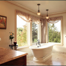 Traditional Bathroom by Diane Plesset, CMKBD, NCIDQ, C.A.P.S.