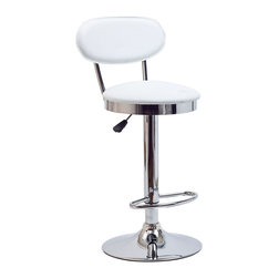 LexMod - Retro Bar Stool in White - Ahead of its time, the Retro Bar Stool of the 1950s is a timeless piece of intrigue for all generations. Known for its simple vision and drive for advancement, this work is a classic brimming with buoyancy and rich experiences. Extraordinary qualities abound from a time when things were a lot more simple and direct.