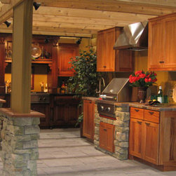 Outdoor Cabinets - Beautiful grill area with outdoor cabinets by Seifert Woodcrafts