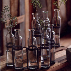 """Roost """"Serpentine"""" Vase - I love this great bottle decor addition. It would be perfect for decorative a living room shelf."""