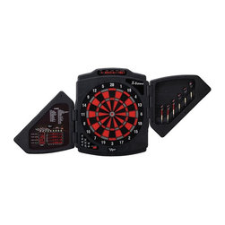 Viper - Viper X-Treme Electronic Dart Board Multicolor - 42-1022 - Shop for Darts and Dart Boards from Hayneedle.com! The Viper X-Treme Electronic Dart Board aims to carry your game to the next level. It comes complete with 266 game options to suit up to 16 players. The X-Treme is the only dart board on the market featuring electronic scoring LED displays built right inside the doors. When the doors open the scoreboard is displayed behind tough transparent Plexiglass. Use only soft-tip darts with this electronic dart board. The cabinet is made out of molded plastic and features faux wood finish accents. Features: 4W x 7L inch Cricket LED display Tournament spider Regulation 15.5-inch target face Display with scrolling screen Double in/out Single/Double Bull's-eye option Handicap option for each player Computer with 3 skill levels Auto sleep mode Auto player change Missed dart detector Bounce-out button Team double elimination Voice with 3 volume levels 48 games and 266 options 16 players 1-year warranty Games included: 301 501 601 701 801 901 301 League Quick Cricket American Cricket Cut Throat Cricket Scram Cricket Double Only Cricket Random Cricket Shanghai Count-Up Shoot-Out Best of Nine Call Three Poker Darts Hound & Hare Halve-It Gold Hunting Killers Blind Killer Round-The-Clock (R-T-C) R-T-C in Doubles/Triples R-T-C...The Irish Way Nine Dart Century Baseball Football Bowling Golf Car Racing 1 Car Racing 2 Big Six Shove-A-Penny Hi-Score Double Down Forty One Over Under All Fives Legs About GLD ProductsGLD Products has been manufacturing and distributing well-known family gaming products for over 30 years and is proud to be America's leading innovator of dart billiard tables games and home casino products. GLD is located in Muskego Wis.