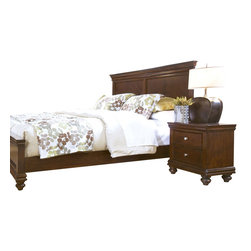 Standard Furniture - Standard Furniture Essex 2-Piece Panel Bedroom Set in Rich Dark Merlot - Essex has updated and streamlined Louis Philippe design styling with a decidedly contemporary attitude.
