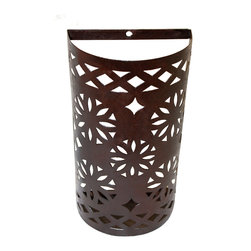 Badia Design Inc. - Rustic Iron Wall Sconce from Morocco - Hand Carved from Wrought Iron