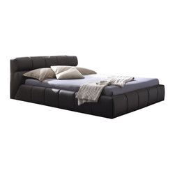 Rossetto - Rossetto Cloud Brown Platform Bed 3 Piece Bedroom Set - Rossetto - Bedroom Sets - T4116023X5N573PcBedPKG - Rossetto Cloud Platform Bed in Brown (included quantity: 1) The dark brown leather effect of the cloud bed amplify the curved structure of the bed.