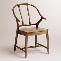 Natural Bowen Wishbone Chair - Two of these natural Wishbone chairs from World Market in an eclectic dining space flanking a china hutch will add extra seating and symmetry.