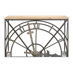 IMAX CORPORATION - Half-Clock Console Table - Half-Clock Console Table. Find home furnishings, decor, and accessories from Posh Urban Furnishings. Beautiful, stylish furniture and decor that will brighten your home instantly. Shop modern, traditional, vintage, and world designs.