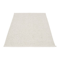 Pappelina - Pappelina SVEA Area Rug Metallic Shine, Stone/Grey - This  rug from Pappelina, Sweden, uses PVC-plastic and polyester-warp to give it ultimate durability and clean-ability. Great for decks, bathrooms, kitchens and kid's rooms.